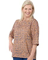 Silvert's Disabled Elderly Needs Attractive Fashionable Womens Adaptive Top - Handicapped Top For Women - Designed For Caregiver Assisted Dressing