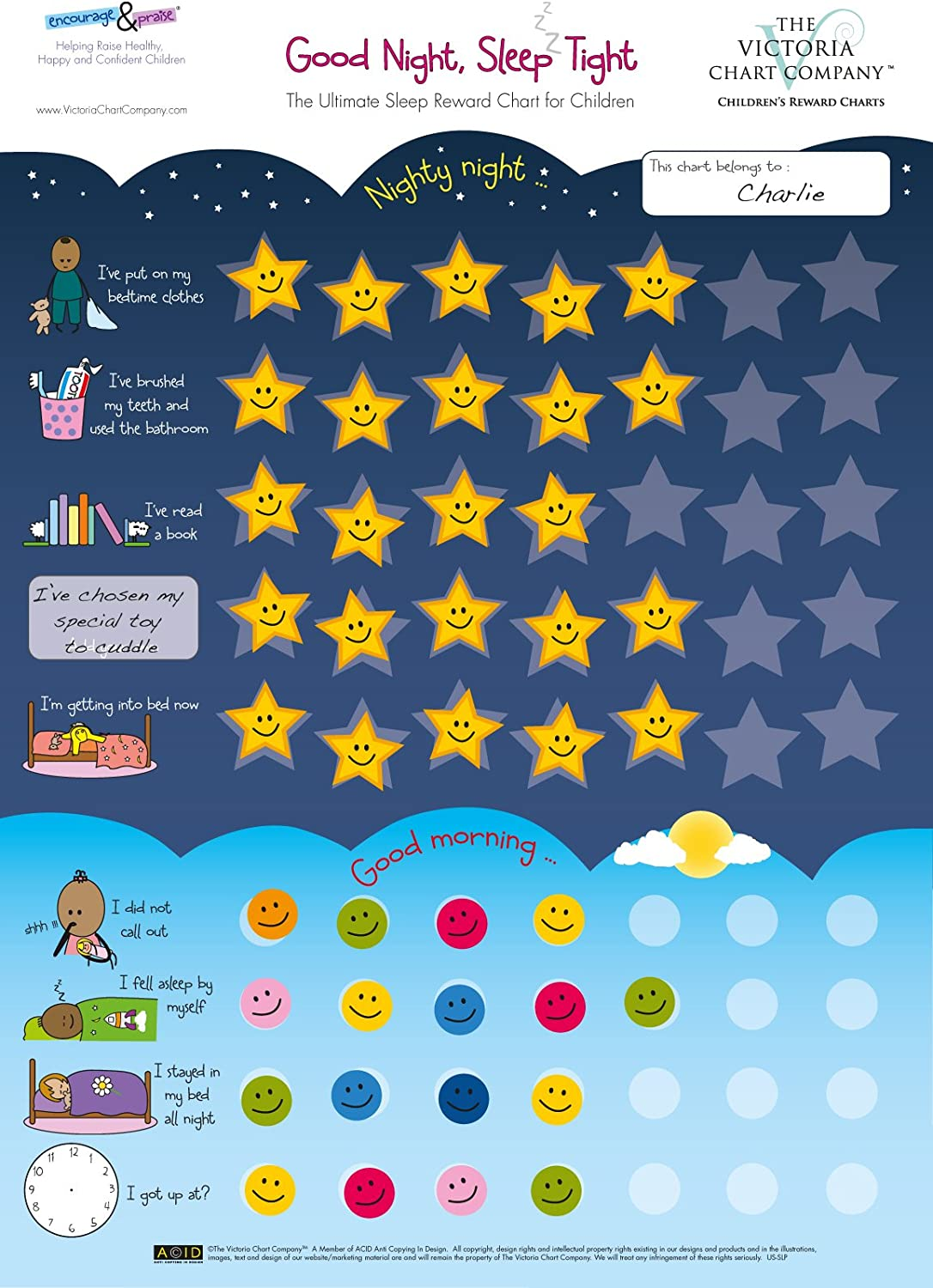 Good Night Sleep Tight Reward Chart For 3 Yrs Award Winning Create The Perfect Bedtime Routine For Your Child And Help Them Sleep At Night 420 X 297mm Amazon Co Uk Toys