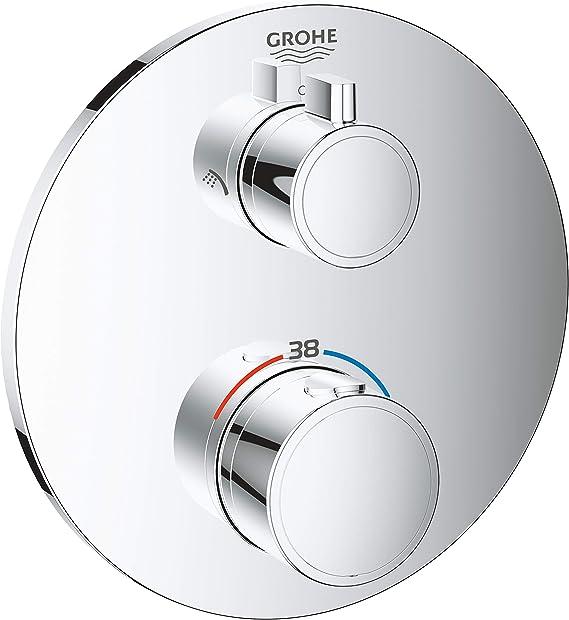 Grohe 24076000 - Termostato de Ducha Grifo Redondo, Cromado, 2 salidas: Amazon.es: Bricolaje y herramientas