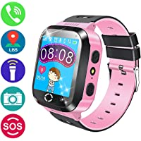 Kids GPS Tracker Smart Watch with Camera,007plus SIM Slot Smart Watch with GPS Tracker Anti-Lost SOS Christmas Gift Watch for Girls Boys Children Smart Watch for iPhone Android Smartphone