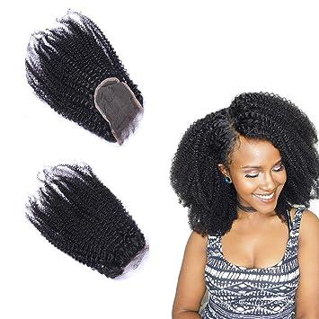 Oylove Haar Afro Verworrene Lockige Spitze Schließung 100