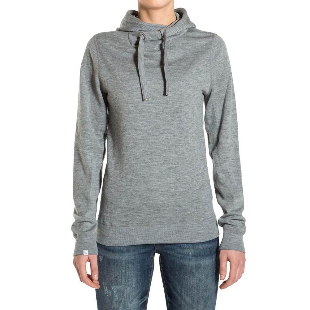 We Norwegians Base Two Hoodie Womens Sweater - X-Small/Grey Melange