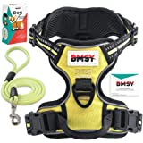 BMSY Dog Harness And Leash Set Adjustable Dog Harness no Pull, no Slip, no Choke, 100% Safety For all Dogs-Reflective Dog Vest Harness with Handle By