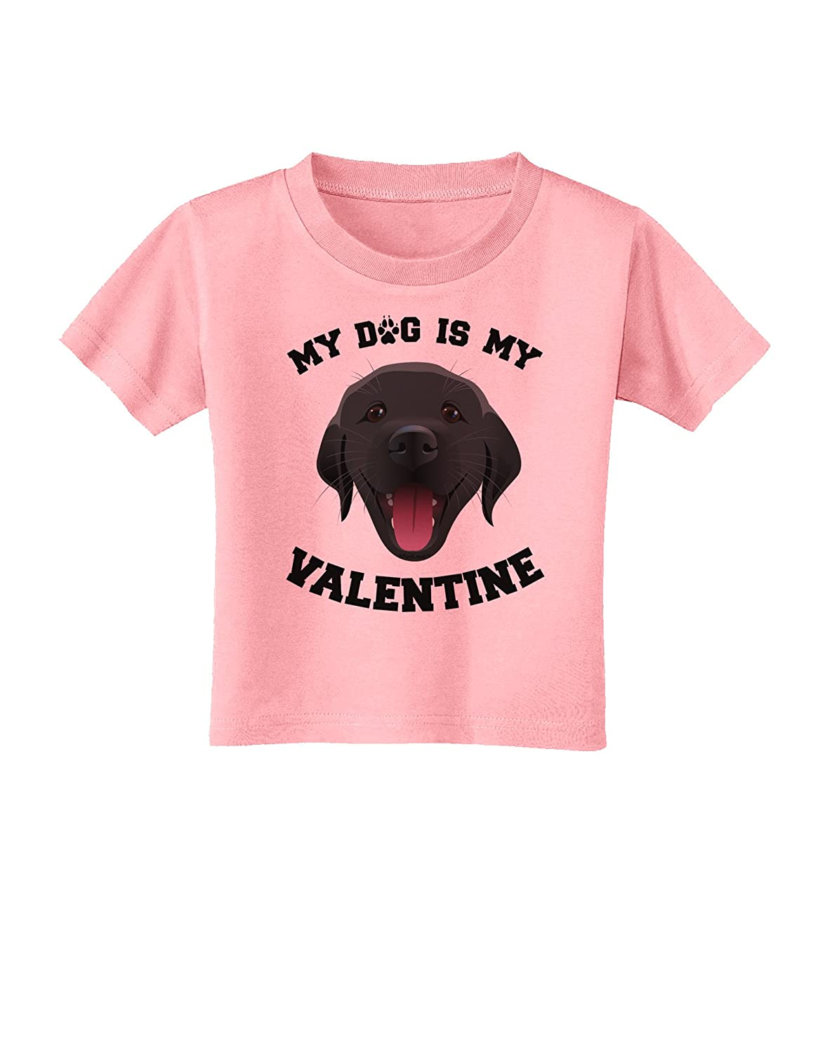 TooLoud My Dog is My Valentine Black Toddler T-Shirt