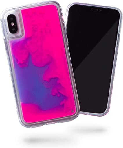 Gradient Neon Liquid Quicksand Phone Case