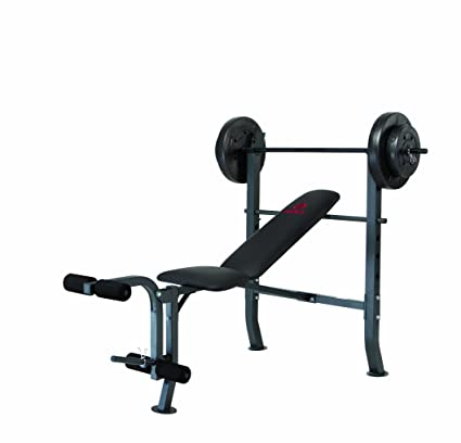 Perfect Marcy Diamond Bench And Weight Set (80 Pound)