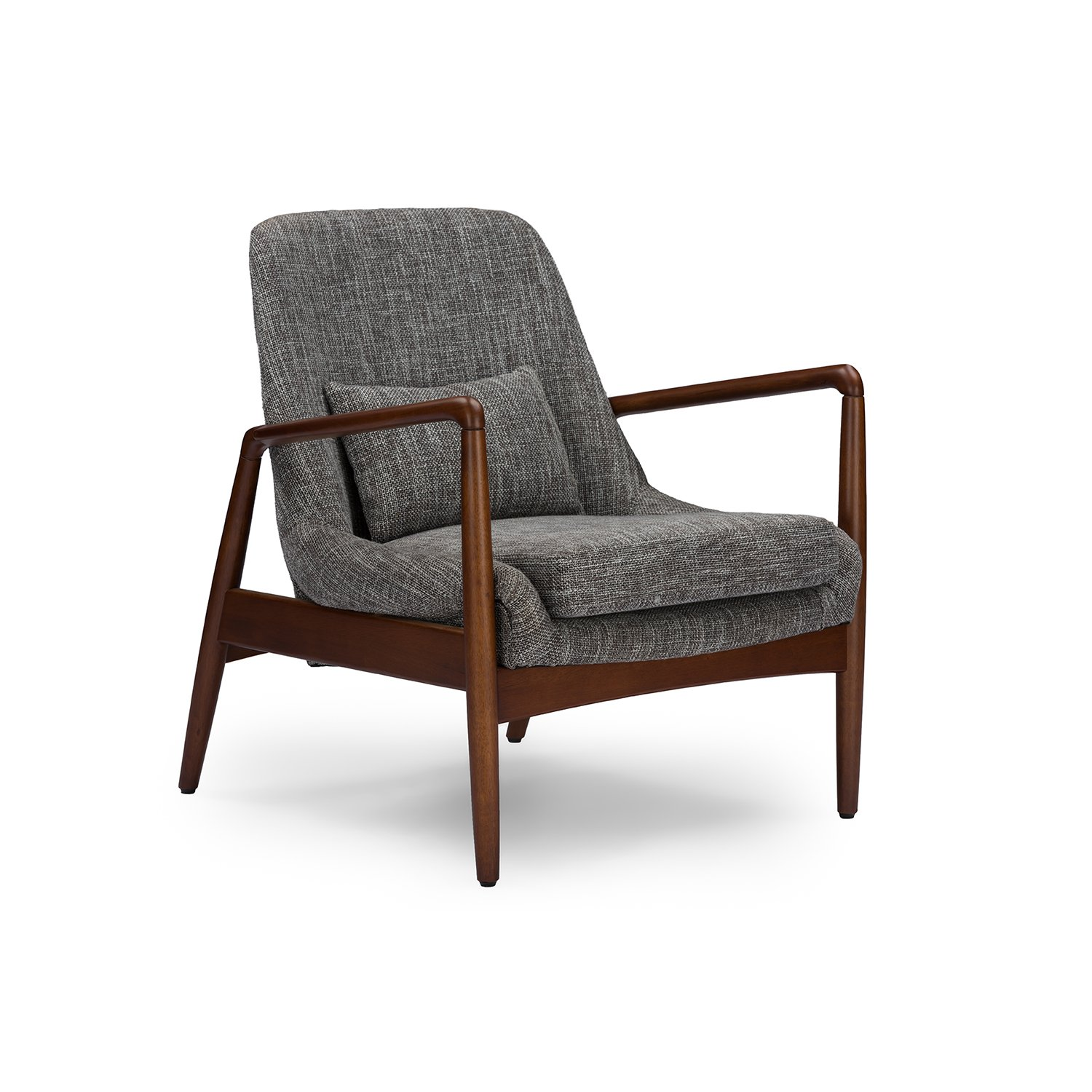 Charming Amazon.com   Wholesale Interiors Baxton Studio Carter Mid Century Modern  Retro Fabric Upholstered Leisure Accent Chair In Walnut Wood Frame, Large,  ...