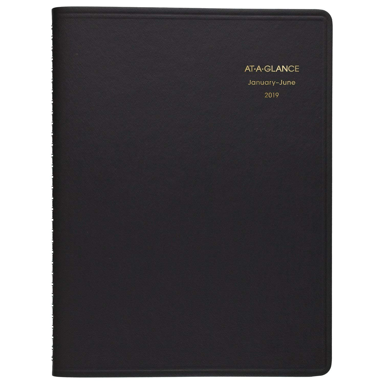 AT-A-GLANCE 2019 Daily Appointment Book, 8-1/2'' x 11'', Large, Eight Person Group Planner, Black (7021278)