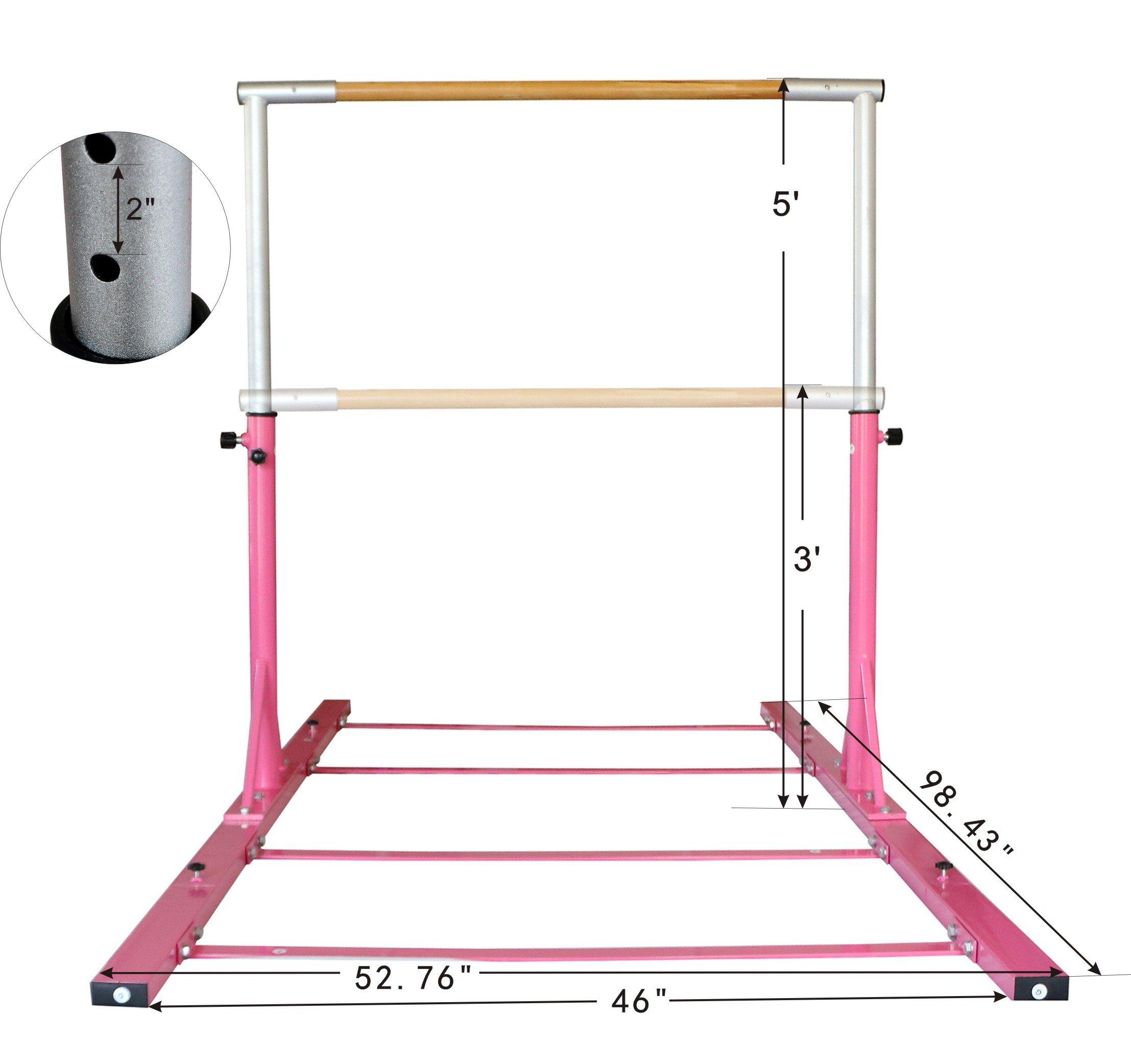 Bestmart INC Pink Junior PRO Gymnastics Bar