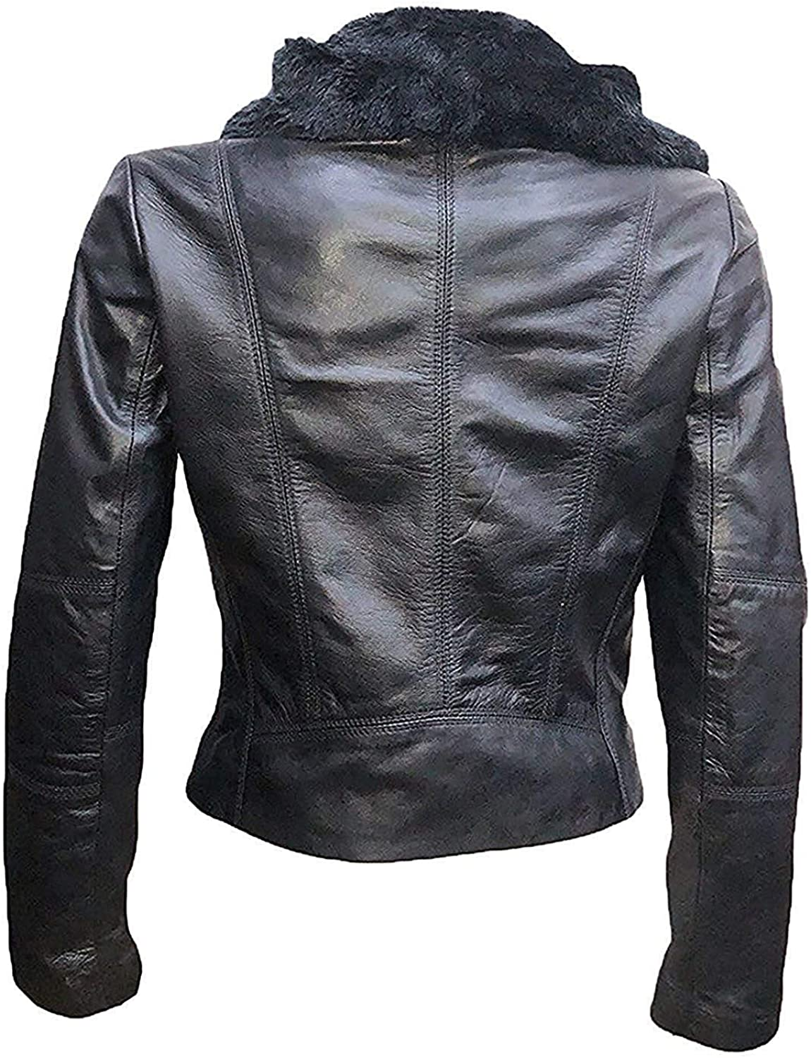 Women Black Leather Jacket Gal Gadot Black Ladies Leather Jacket for Womens