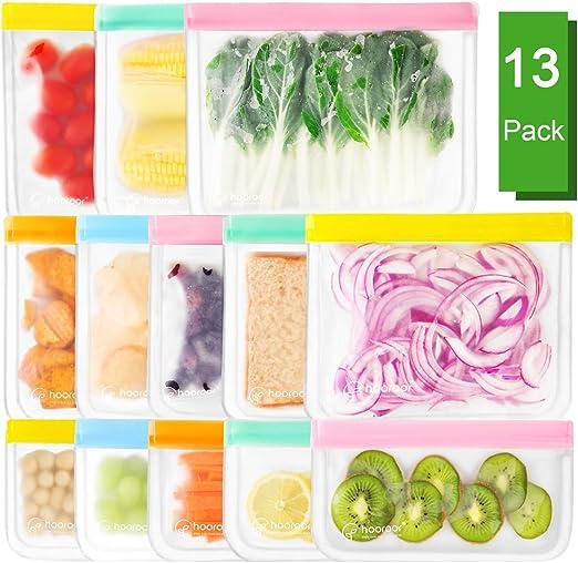Fruta Verduras Carne y S/ándwich Redmoo Bolsas de Almacenamiento Reutilizables 12 Pack Aprobado por la FDA Bolsas de Conservaci/ón Congelador Bolsas Preservaci/ón de Alimento Herm/ética para Bocadillos