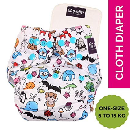 Buy Fig O Honey Baby Washable Cloth Diaper One Size 5 Kg To 15 Kg