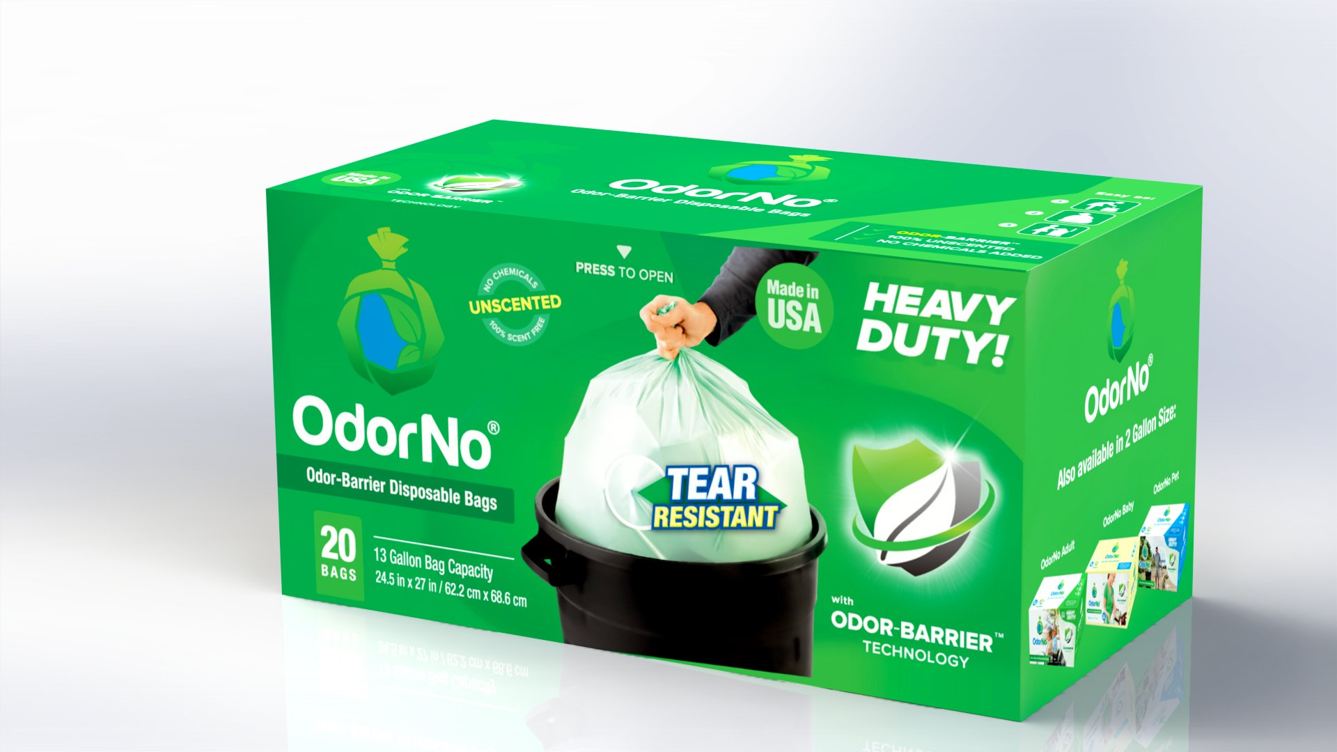 Odorno™ – Odor-barrier Disposable Bags - Case/125 (Kit - 24.5'' x 27'')