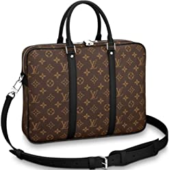 c2d0504c47e Louis Vuitton Monogram Macassar Canvas Porte-Documents Voyage PM Briefcase  Laptop Bag Article  M52005