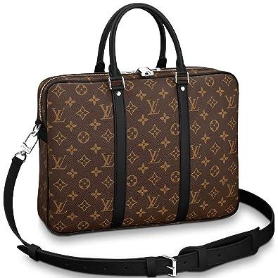 5b8f87a47446 Amazon.com  Louis Vuitton Monogram Macassar Canvas Porte-Documents Voyage  PM Briefcase Laptop Bag Article  M52005  Shoes