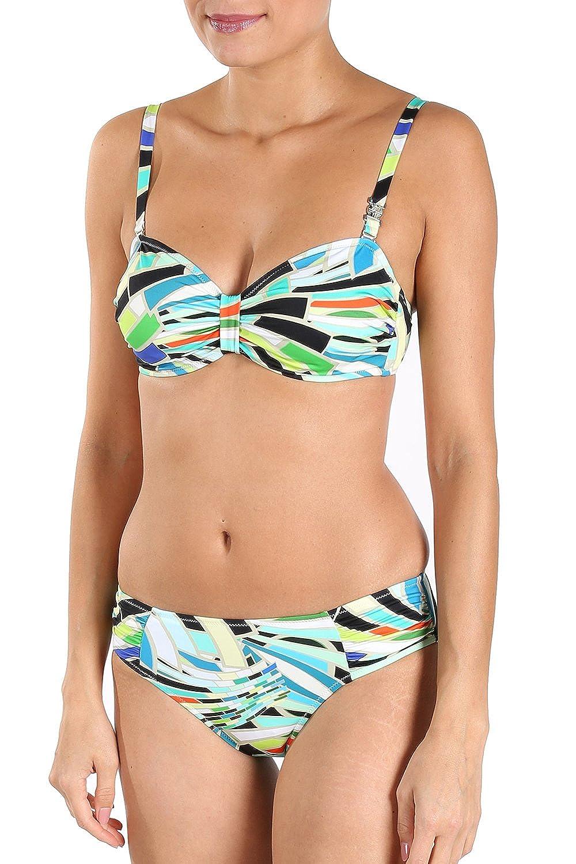 Féraud Bikini mit Mosaik-Druck Gr. 38