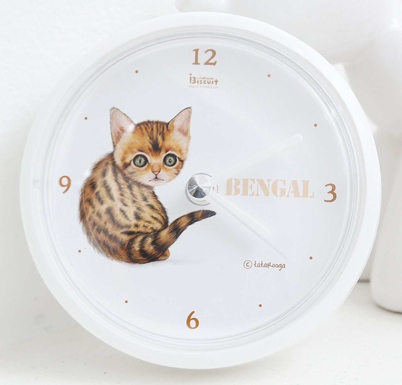 Tatarooga Design 放水時計 Waterproof Clock 猫時計 ベンガルネコ (Bengal) B01EA8MO5QBengal