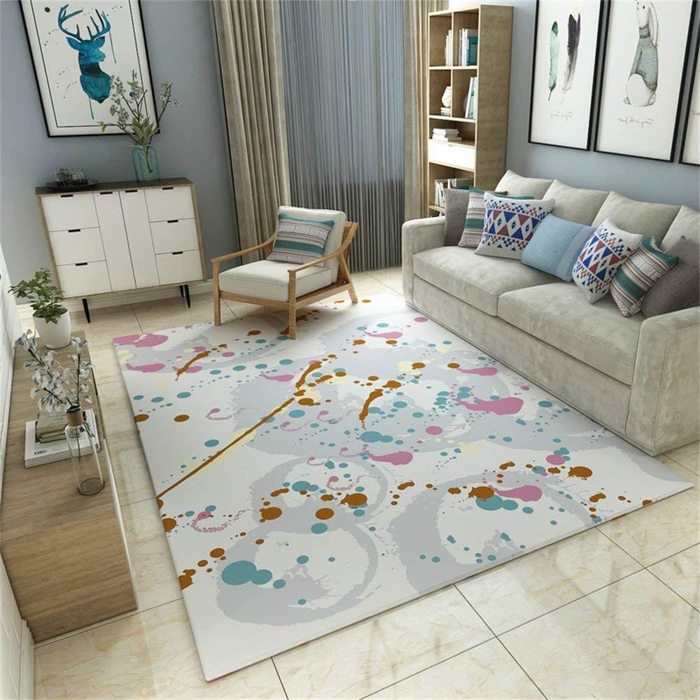 なめらかなミニマリストデザイナー敷物子供部屋とリビングレストランと寝室の柔らかいエリアカーペットインクアートパターン120×160 cm (サイズ さいず : 180×280cm) 180×280cm  B07QKZ42P4
