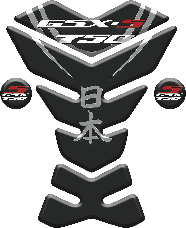 PARASERBATOIO ADESIVO RESINATO EFFETTO 3D compatibile con Suzu.ki Kanji NI-HON S GSX 750 v1
