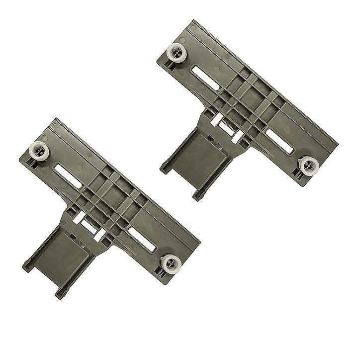 Siwdoy Pack of 2 W10350376 W10712394 Dishwasher Upper Rack Adjuster for Whirlpool Kenmore Kitchenaid Sears