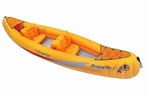 Sportek Indika I-T - Canoa hinchable (unisex), color naranja ...