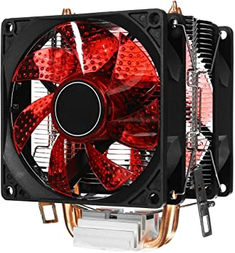 Gaoominy LED Doble Ventilador 2Heat Pipe Quiet CPU Cooler ...