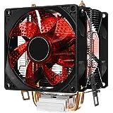 SODIAL Led二重ファン2ヒート管静音CPUクーラー、ヒートシンク、Intel用