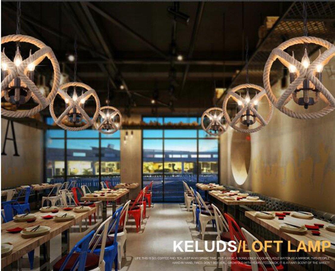 Ydxwan 3 3 3 4 Kopf sphärische Retro industrielle Schmiedeeisen Runde Twine Kronleuchter Kerze Kronleuchter Showroom Kaffee Bar dekorative Licht (ohne Birne) B07CMR55Z9 | Charmantes Design  471ad8