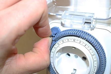 Theben timer26ip44 - Programador enchufable protección contra agua/polvo: Amazon.es: Bricolaje y herramientas