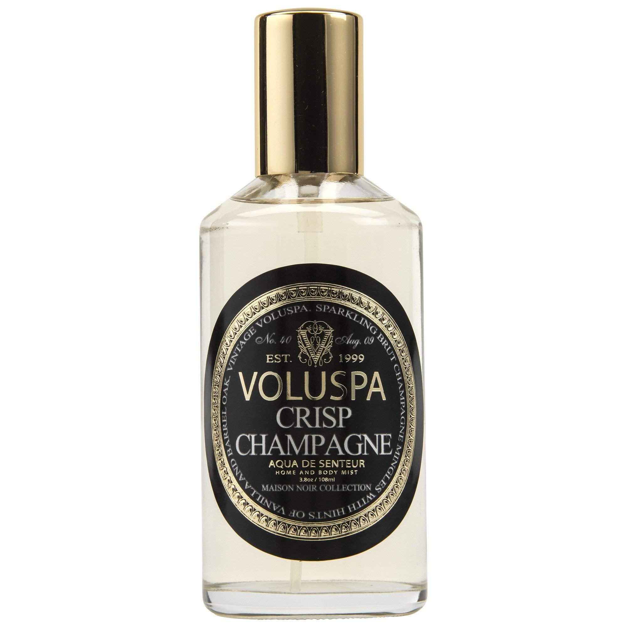 Voluspa Crisp Champagne Aqua De Senteur Room and Body Spray, 3.8 Ounce