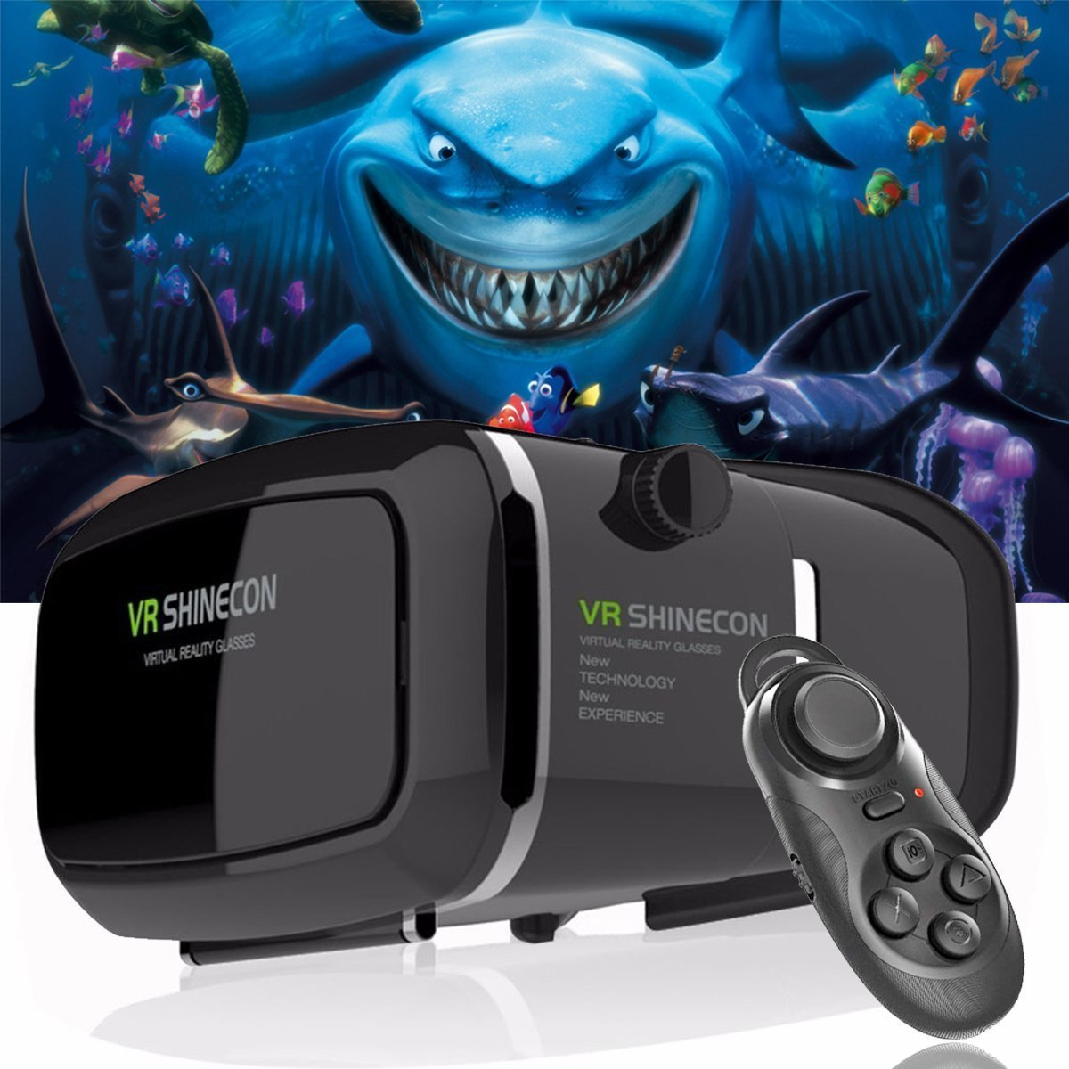 ZiKON 3D VR Headset Glasses Virtual Reality Mobile Phone 3D Movies for iPhone 6s/6 plus/6/5s/5c/5 Samsung Galaxy s5/s6/note4/note5 and Other 4.7''-6.0'' Cellphones