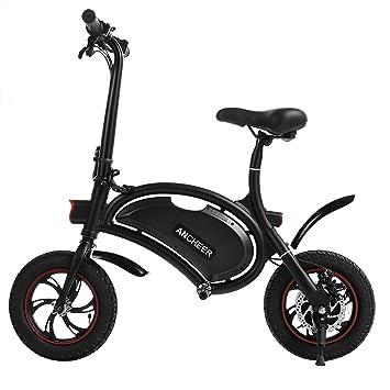 Ancheer Bicicleta eléctrica plegable con rueda de 12pulgadas, motocicleta elé