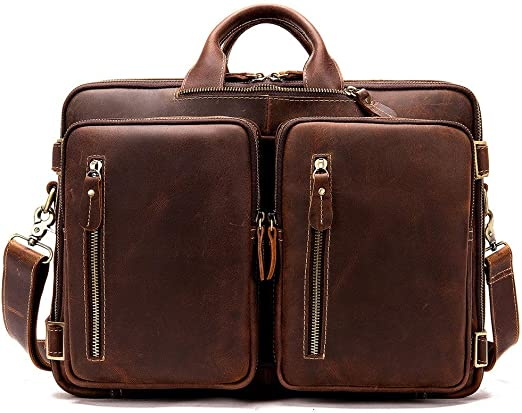 US Mens Business Briefcase Leather Messenger Handbag Shoulder Bag Travel Bag
