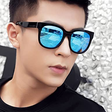 5b8b7659d4 HCIUUI 2018 new retro big box polarized sunglasses men s tide driving  glasses long face female can
