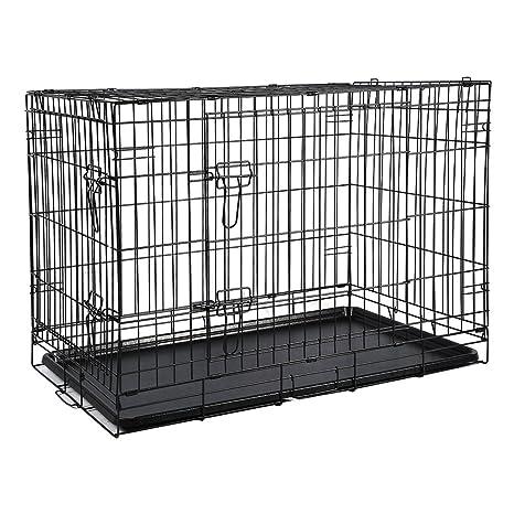 ICOCO Plegable Metal Jaula Perros Perros Caja Alambre Jaula ...