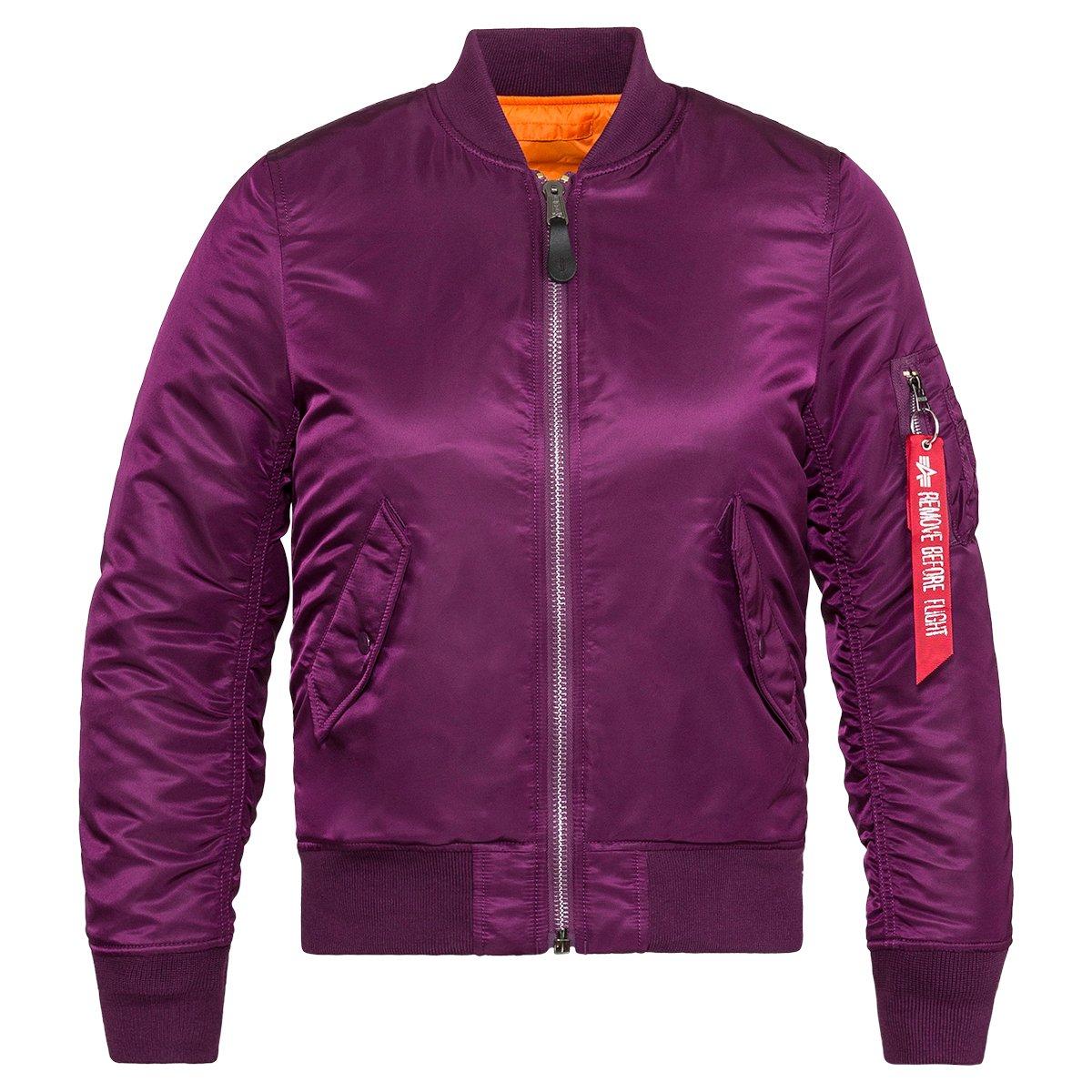 Alpha Industries Women's Ma-1 W Flight Jacket, Deep Purple, XS