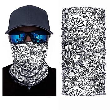 d59ebe75109d Msliy Masques Visage Bandana Tubulaire Écharpe Tube Anti Poussière  Protection Résistant Vent pour Motocyclisme Randonnée Camping