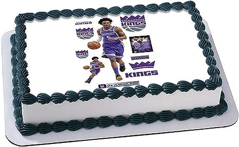 Tremendous Amazon Com Deaaron Fox Sacramento Kings Edible Image Cake Topper Birthday Cards Printable Inklcafe Filternl