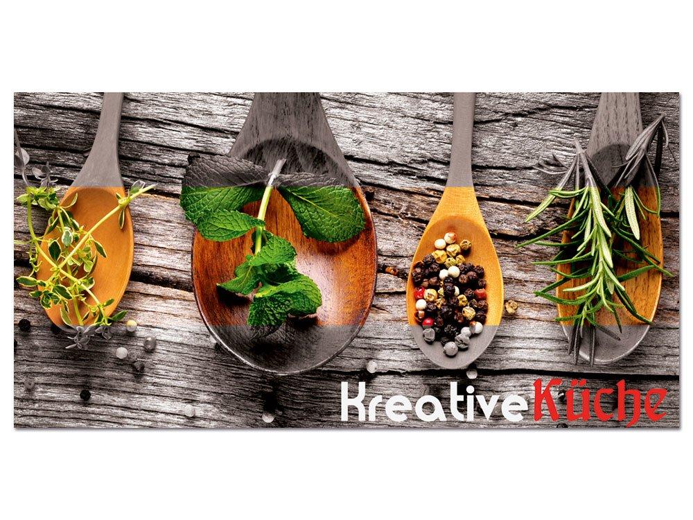 graz-design Glasbild aus Acryl | Wandbild mit Spruch Kreative Küche ...