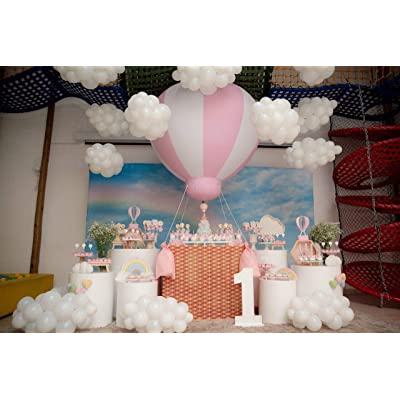 SAYOK 5ft PVC Half Hot Air Balloon Inflatable Hanging Balloons Inflatable Ball for Girls Baby Shower Party/Kids Birthday/Event/Wedding/Show/Exhibitions: Office Products