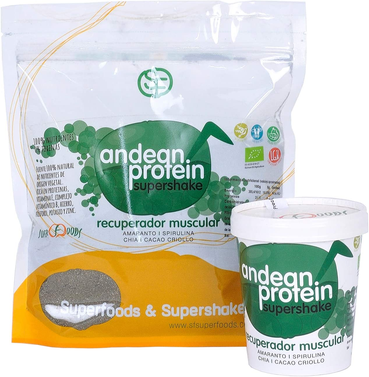 Energy Feelings Andean Protein Ecológico, XL - 500 gr: Amazon ...