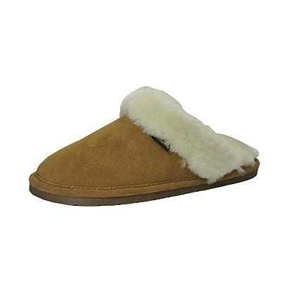 Amazon.com | Eurow Sheepskin Women's Hardsole Scuff Slipper - Size 7 | Slippers