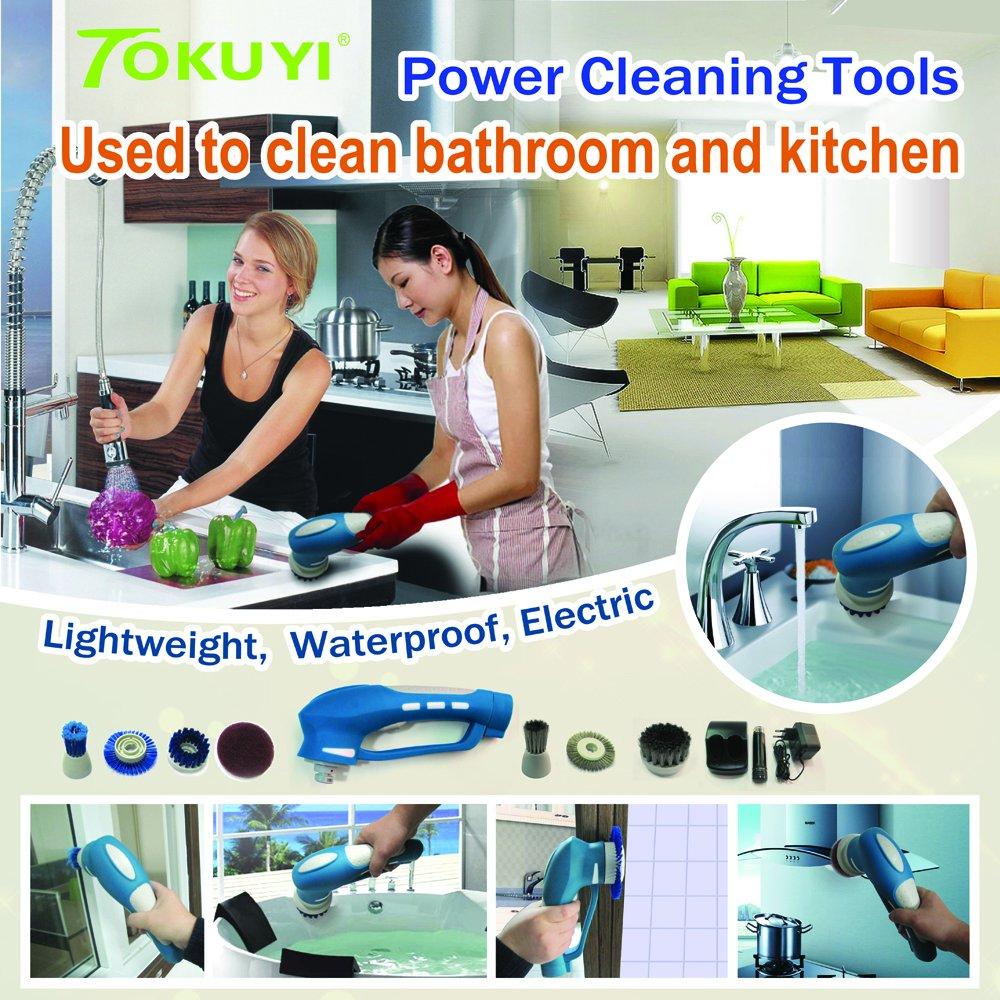 Multi Purpose Handheld Electric Power Scrubber for Bathroom ...