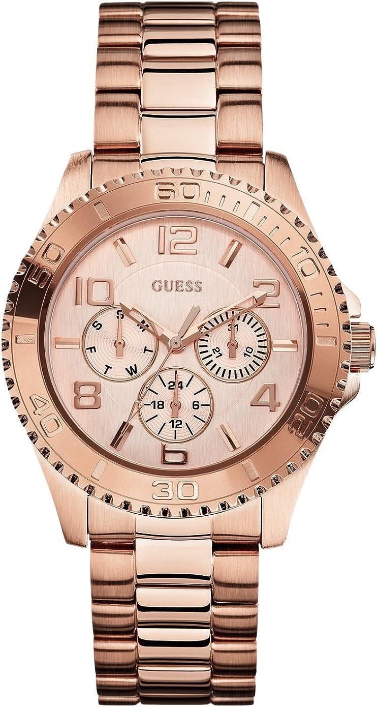 Guess Ladies Sport - Reloj de Cuarzo para Mujer, con Correa de Acero Inoxidable, Color Dorado