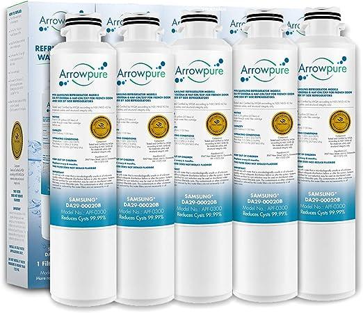 HAF-CIN//EXP 2 Pack Premium DA29-00020B Refrigerator Water Filter Replacement by Arrowpure HAF-CIN EXP DA29-00020A Compatible with Samsung DA29-00020B Certified According to NSF 42/&372