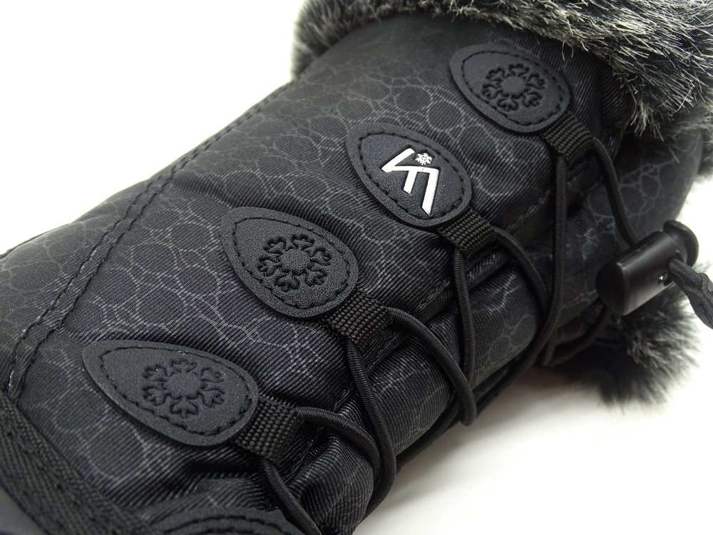 Kids Winter Snow Boots Waterproof and Insulated for Girls and Boys (13 M US Little Kid, Black) by ICEFACE (Image #5)