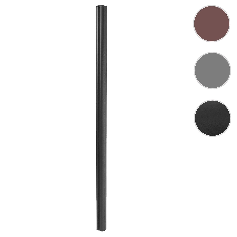 Mendler Alu-Pfosten Sarthe-WPC-Zaun Stecksystem 1,86m ~ anthrazit Pfeiler Pfahl