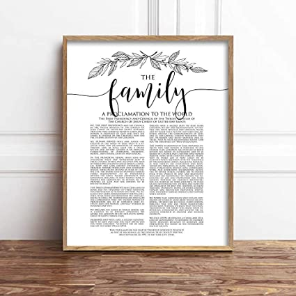picture relating to Family Proclamation Printable titled : TimPrint The Household Proclamation Print LDS