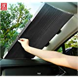 GRH Car Retractable Windscreen Sunshade Insulation for Front Windshield Shrink Shade