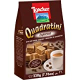 Loacker Quadratini Premium Italian Espresso Wafer Cookies, 220g/7.76oz, Espresso, 220 Grams (SPK-1491752)